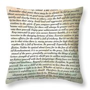 Desiderata On Mother Earth Watercolor Throw Pillow