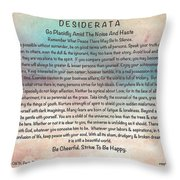 Desiderata On Pastel Watercolor Throw Pillow