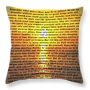 Desiderata Pismo Beach Golden Sunset Throw Pillow