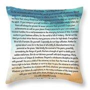 Desiderata Poem On Brighton Beach Watercolor Throw Pillow