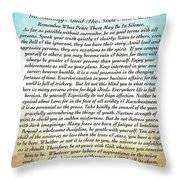 Desiderata Poem On Watercolor Throw Pillow