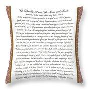 Desiderata Poem Poster Throw Pillow