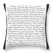 Desiderata Poster Throw Pillow