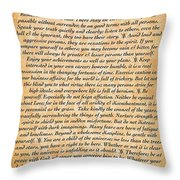 Desiderata Poster On Antique Embossed Wood Paper Throw Pillow