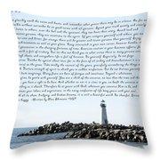 Desiderata Santa Cruz Lighthouse Throw Pillow