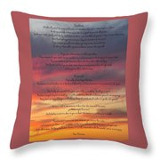 Desiderata Sky Throw Pillow