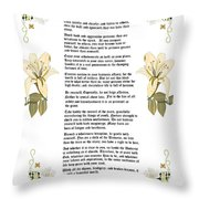 Desiderata With Art Throw Pillow by Anne Norskog