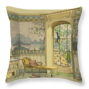 Design For A Bathroom, From Interieurs Throw Pillow