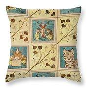 Design For Nursery Wallpaper Throw Pillow