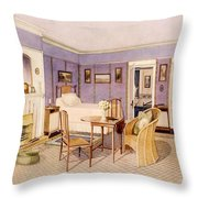 Design For The Interior Of A Bedroom Throw Pillow