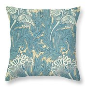 Design In Turquoise Throw Pillow