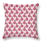 Designer Hearts Throw Pillow
