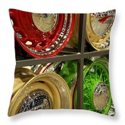 Designer Hubcaps Throw Pillow