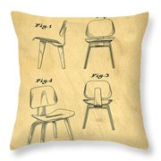 Designs For A Eames Chair Throw Pillow