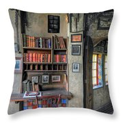 Desk At The Castle Throw Pillow