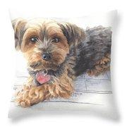 Desktop Calendar Yorky Dog Watercolor Portrait Throw Pillow
