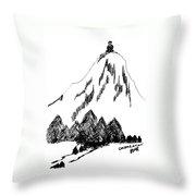 Desolation Peak_alone Time Throw Pillow