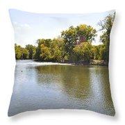 Desplaines River Throw Pillow