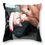 Destination Wedding Hands New Orleans Throw Pillow