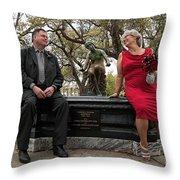 Destination Wedding-m And D Throw Pillow