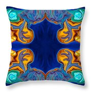Destiny Unfolding Into An Abstract Pattern Throw Pillow
