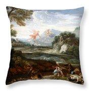Destruction Of Niobes Children Throw Pillow