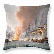 Destruction Of The Danish Fleet Throw Pillow