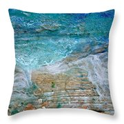 Detail 7 From Rhapsody On The Sea Throw Pillow