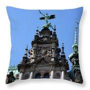 Detail City Hall Hamburg Throw Pillow