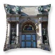 Detail City Hall Hamburg II Throw Pillow