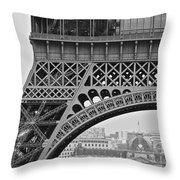 Detail Eiffel Tower Throw Pillow