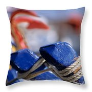 Detail From Fishing Boat Throw Pillow
