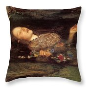 Detail From Ophelia Throw Pillow