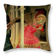 Detail From The Annunciation Showing The Angel Gabriel Throw Pillow