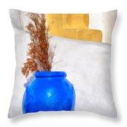 Detail In Oia Town Throw Pillow
