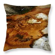 Detail Mammoth Springs Yellowstone Throw Pillow