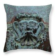 Detail Of A Bronze Mortar Throw Pillow