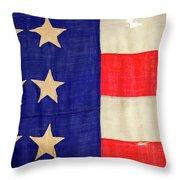 Detail Of A Civil War Flag In Drummer Throw Pillow
