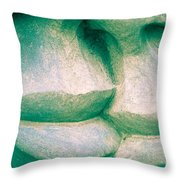 Detail Of Human Sculpture With Lips Ready To Kiss Throw Pillow