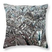 Detail Of Icelandic Glacier Throw Pillow