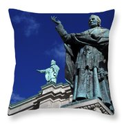 Detail Of Mary Queen Of The World Cathedral Throw Pillow