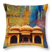 Detail Of Mohatta Palace Throw Pillow