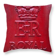Detail Of Old Royak Mail Post Box Throw Pillow