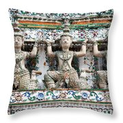 Detail Of Temple, Thailand Throw Pillow