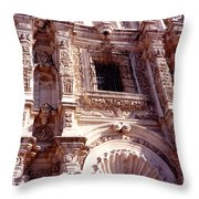 Detail Of The National Cathedral Of Guatemala Throw Pillow