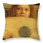 Detail Of The San Giobbe Altarpiece Throw Pillow