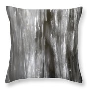 Detail Of Waterfall In Park Sonsbeek In Arnhem Netherlands Throw Pillow