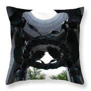 Detail World War II Memorial Throw Pillow