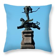 Detailed Images Of Statues In Almaty Throw Pillow