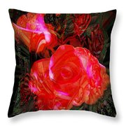 Detailed Roses Throw Pillow